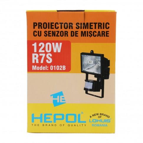 Proiector halogen Hepol 120W, cu senzor de miscare