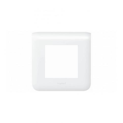 Rama Legrand Mosaic 078802, 2 module, orizontala, alba, pentru priza / intrerupator