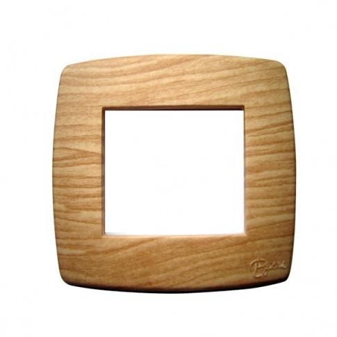 Rama Esperia 300554-34, 2 module, stejar, pentru priza / intrerupator