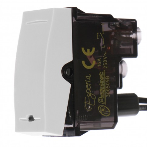 Intrerupator cu revenire Esperia 300509 B, incastrat, modular - 1, alb