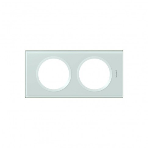 Rama Legrand Celiane 069312, 2 posturi, sticla caolin