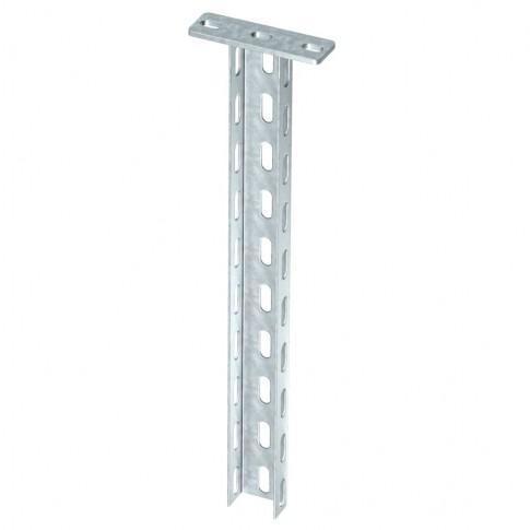 Stalp U cu flansa FT 6342359, otel, 600 mm