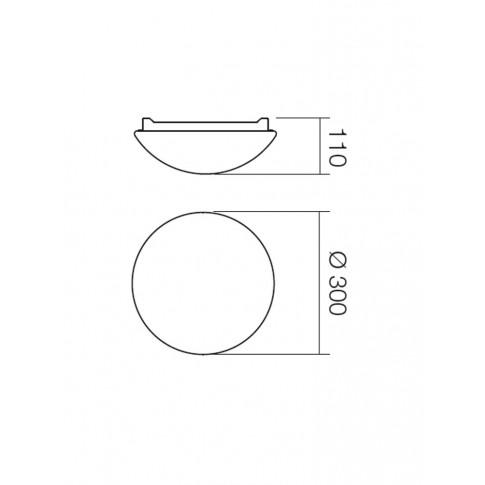 Plafoniera pentru baie Ibis 01-398, 1 x E27, D 300 mm, IP44