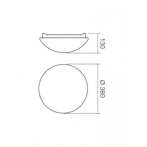 Plafoniera pentru baie Ibis 01-399, 2 x E27, D 380 mm, IP44