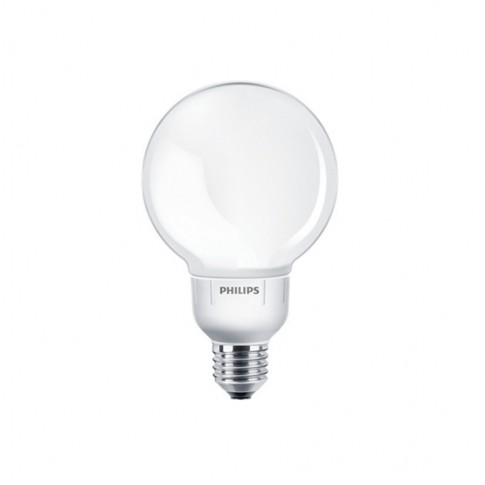 Bec economic E27 Philips Softone Esaver Globe G93 12W lumina calda