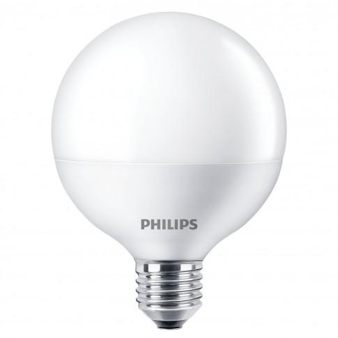 Bec economic Philips Softone Esaver Globe glob G93 E27 12W 600lm lumina calda 2700 K