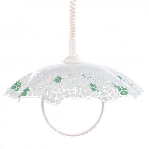 Suspensie Lucy KL 4370, 1 x E27, alb + verde