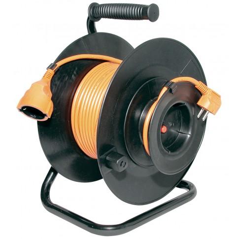 Derulator cablu electric HJR 24-30, 1 priza, 27 + 3 m, 3 x 1 mmp