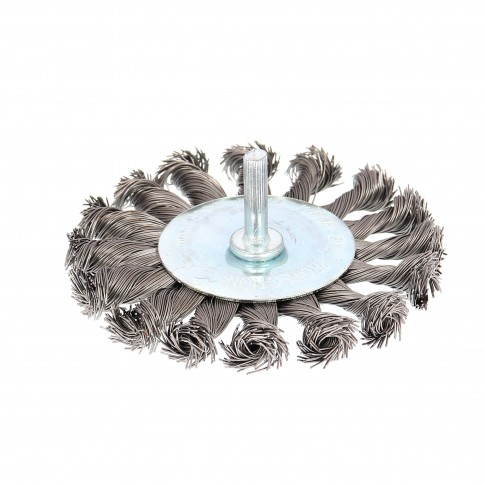 Perie circulara, cu tija, pentru metale / piatra / lemn, diametru 100 mm