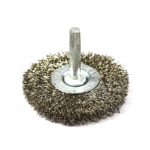 Perie circulara, cu tija, pentru inox / aluminiu, diametru 50 mm