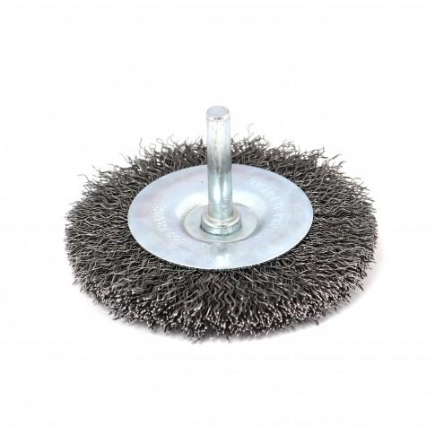 Perie circulara, cu tija, pentru otel, Peromex 5132G, pentru metale / piatra / lemn, diametru 75 mm
