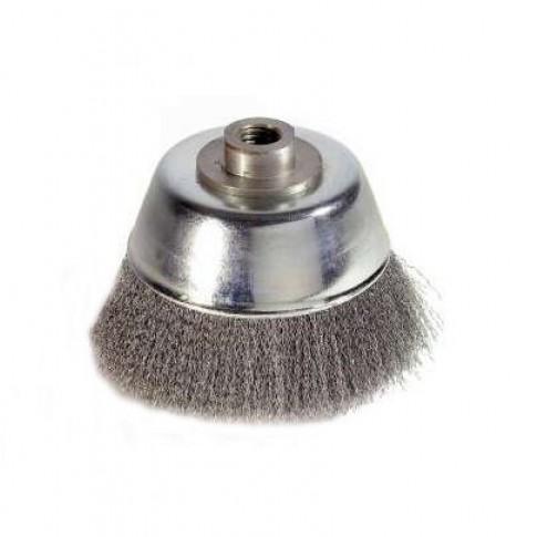 Perie cupa, cu alezaj, pentru metale / piatra / lemn, M14, diametru 80 mm