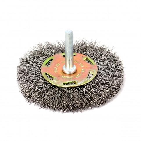 Perie circulara, cu tija, pentru otel, Peromex 6132V, pentru metale / piatra / lemn, diametru 75 mm