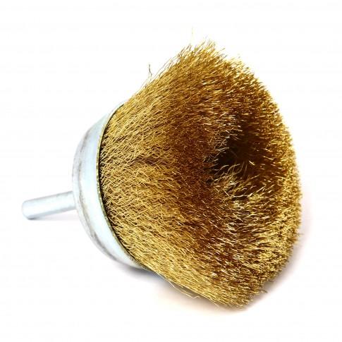 Perie cupa, cu tija, pentru metale moi, Peromex 5224G, diametru 75 mm