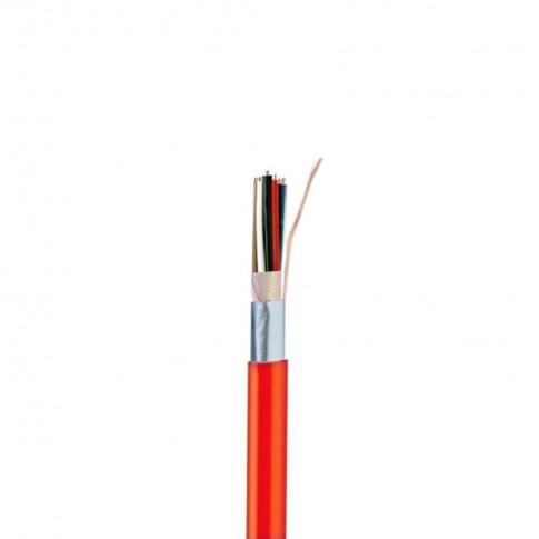 Cablu rosu semnalizare incediu JB-Y(ST)Y 2 x 2 x 0.8 mmp BMK, cupru