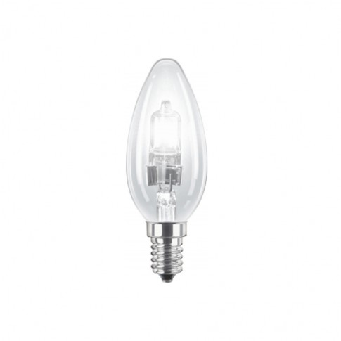 Bec halogen E14 Philips EcoClassic30 lumanare B35 230V 28W lumina calda