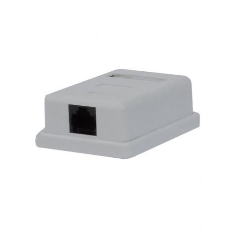 Priza date Mini MF0031-01140, cat. 5E, aparenta, rama inclusa, alba