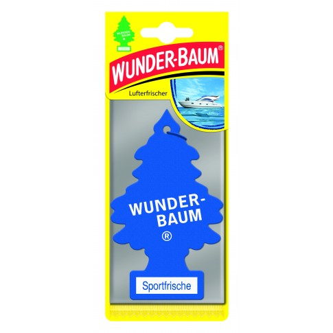 Odorizant auto, bradut, Wunder - Baum, Sportfrische, 7.6 X 0.3 X 19 cm