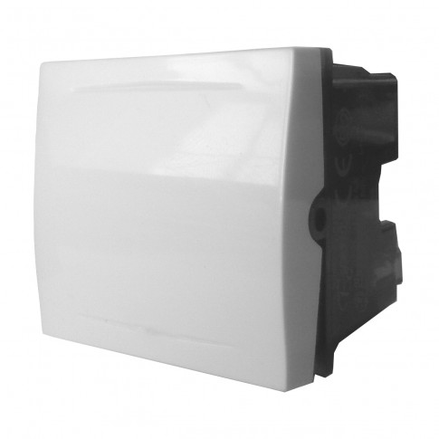 Intrerupator simplu Esperia 300.800, incastrat, modular - 2, alb