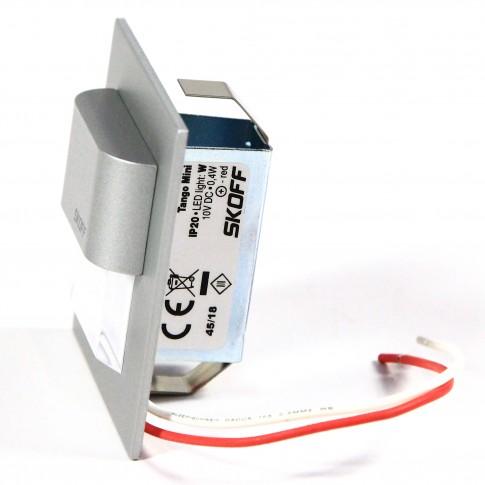 Spot LED alb incastrat Tango Mini Skoff, 0.40W, aluminiu