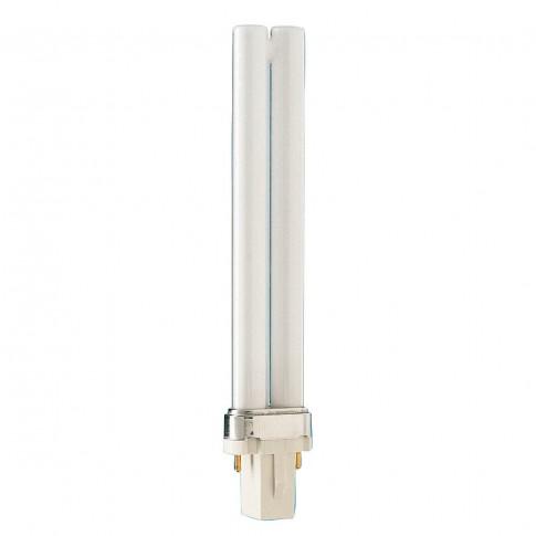 Bec economic Philips Master PL-S 2P tubularG23 9W 600lm lumina neutra 4000 K