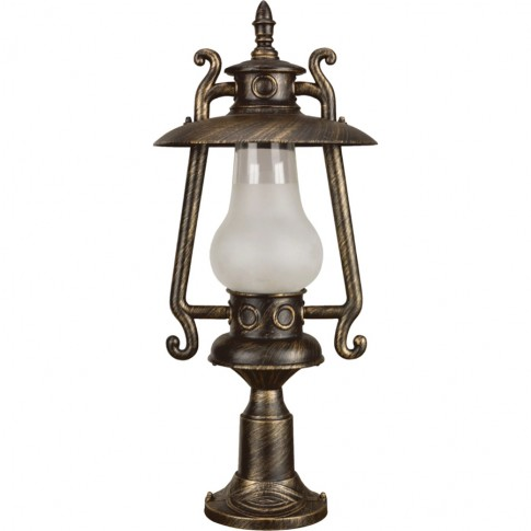 Stalp de iluminat ornamental Petrol 2 KL 5467, 1 x E27, H 66 cm, bronz antic