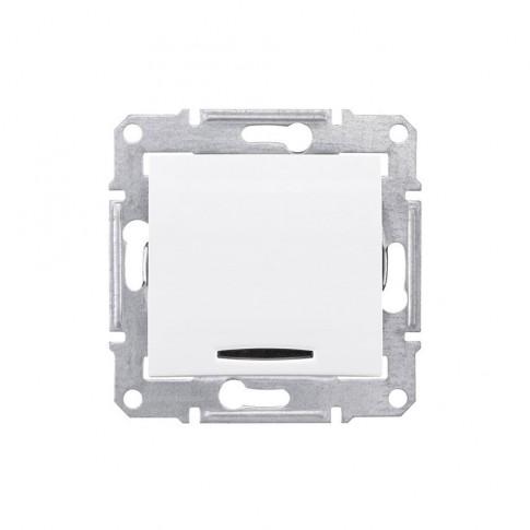 Intrerupator simplu cu indicator luminos Schneider Electric Sedna SDN0400321, incastrat, alb