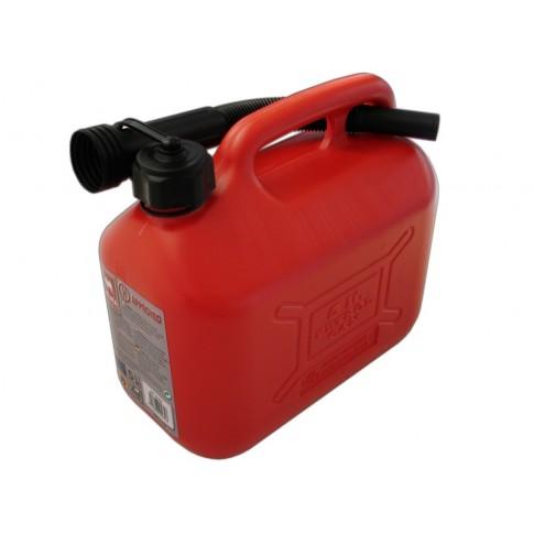 Canistra din plastic, pentru combustibil, Ro Group, 5 L + palnie