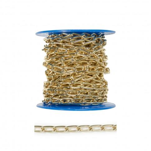 Lant din otel, auriu, 2 mm