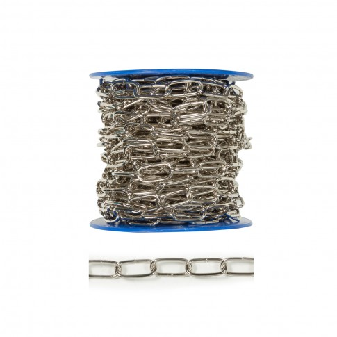 Lant cu za ovala, argintiu, 2.8 mm