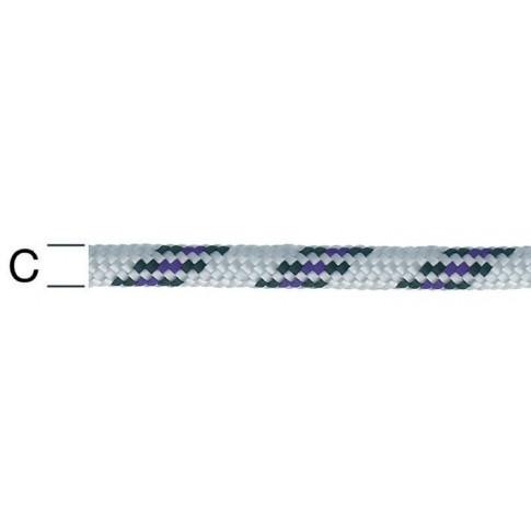 Sfoara polipropilena, alb + albastru, 8 mm