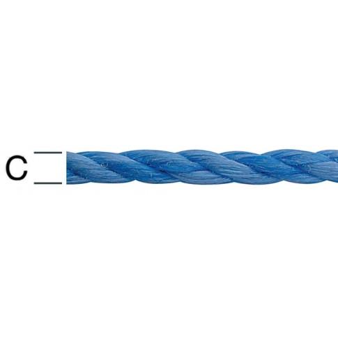 Sfoara polipropilena, rasucita, albastra, 8 mm