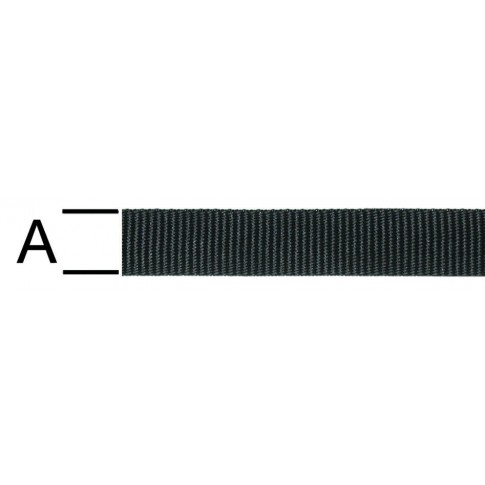 Chinga polipropilena, neagra, 25 mm