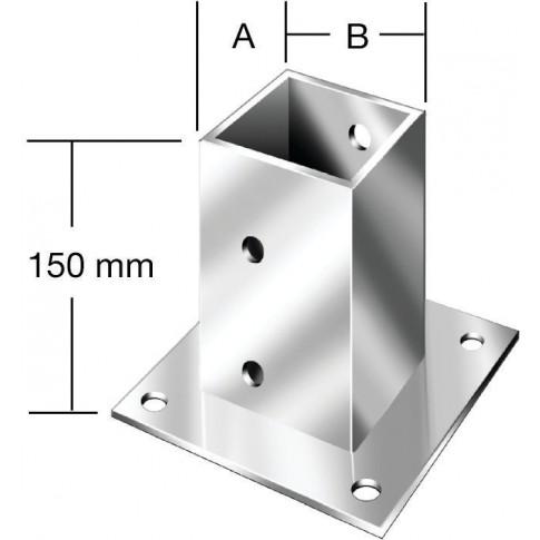 Camasuiala din tabla de otel zincat, 91 x 91 mm