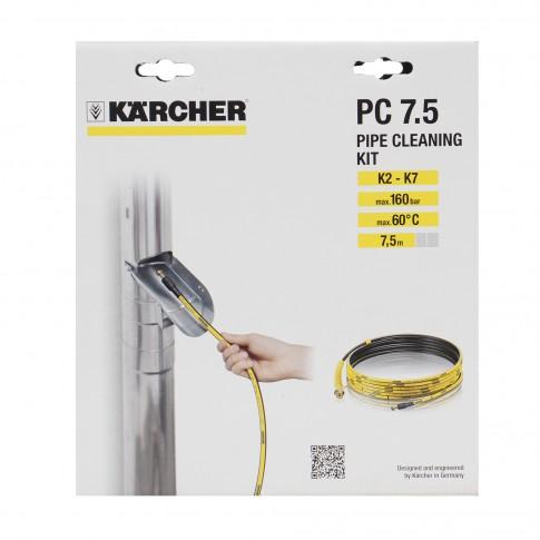 Furtun pentru curatare tevi, Karcher, 7.5 m