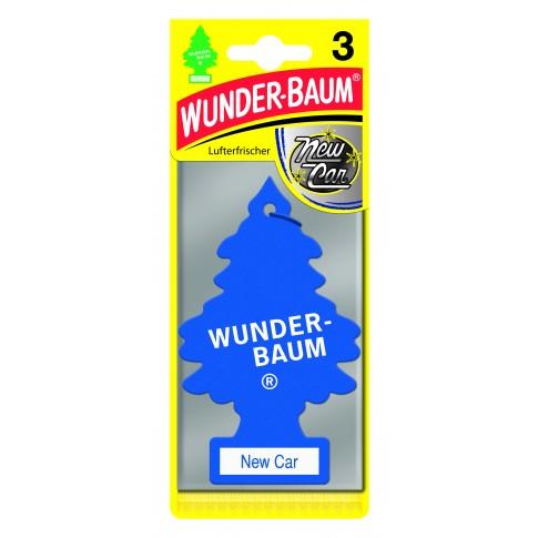 Odorizant auto, bradut, Wunder-Baum, New Car, pachet promo 2+1, 7.6 x 0.8 x 19 cm
