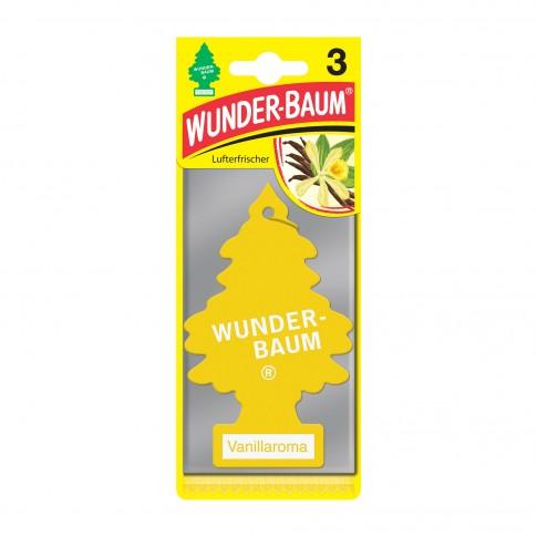 Odorizant auto, bradut, Wunder-Baum, Vanilie, pachet promo 2+1, 7.6 x 0.8 x 19 cm