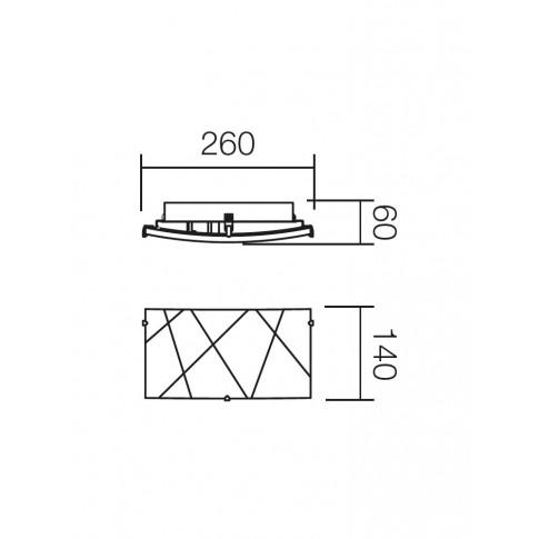 Aplica Selene 05-565, 1 x E27, alba