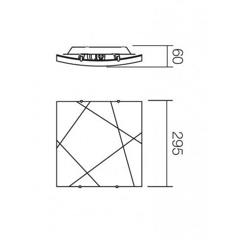 Plafoniera Selene 05-566, 1 x E27, alba