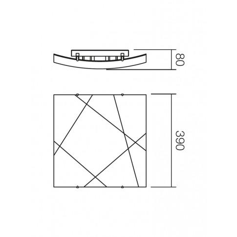 Plafoniera Selene 05-567, 2 x E27, alba