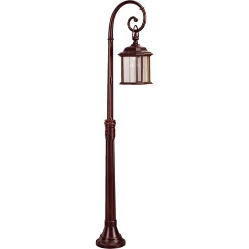 Stalp de iluminat ornamental Nuvola 4 KL 5475, 1 x E27, H 139 cm, maro