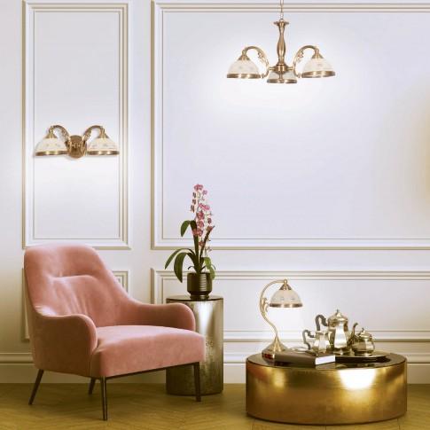 Lustra Camille KL 7021, 3 x E27, bronz + alb