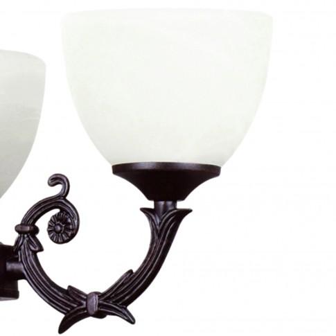 Lustra Vezuv KL 2671, 3 x E27, negru antic + alb