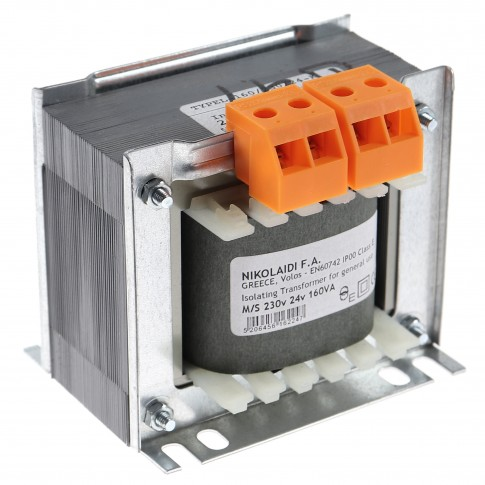 Transformator de tensiune 230 / 24V NikoIaidi 160VA