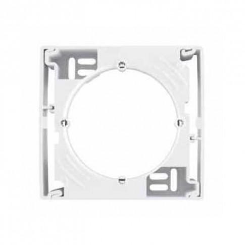 Cadru aparent Schneider Electric Sedna SDN6100121, 1 post, alb, pentru priza / intrerupator