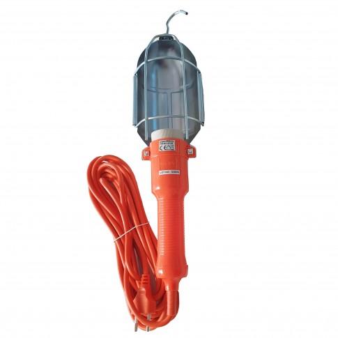 Lampa de lucru 00-570, portabila, dulie E27, cu intrerupator, 10 m cablu, alimentare 220V