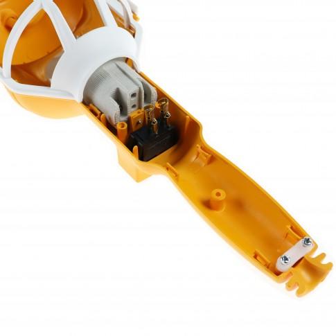 Lampa de lucru 00-567, portabila, fara fir, dulie E27, cu intrerupator, lupa si carlig de agatare