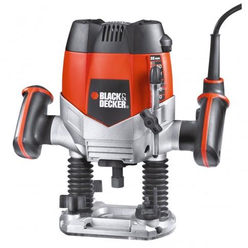 Freza electrica pentru lemn, Black&Decker KW900EKA, 1200 W