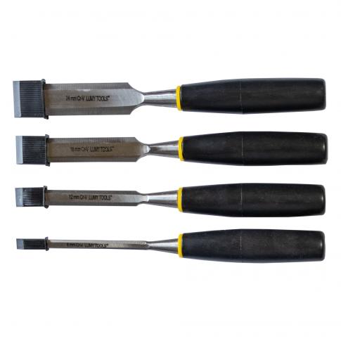 Dalti pentru lemn, Lumytools LT25810, 6-12-18-24 mm, set 4 bucati