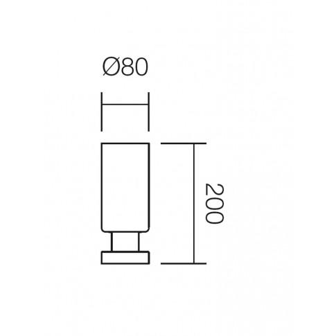 Veioza Lika 01-560, 1 x E14, gri